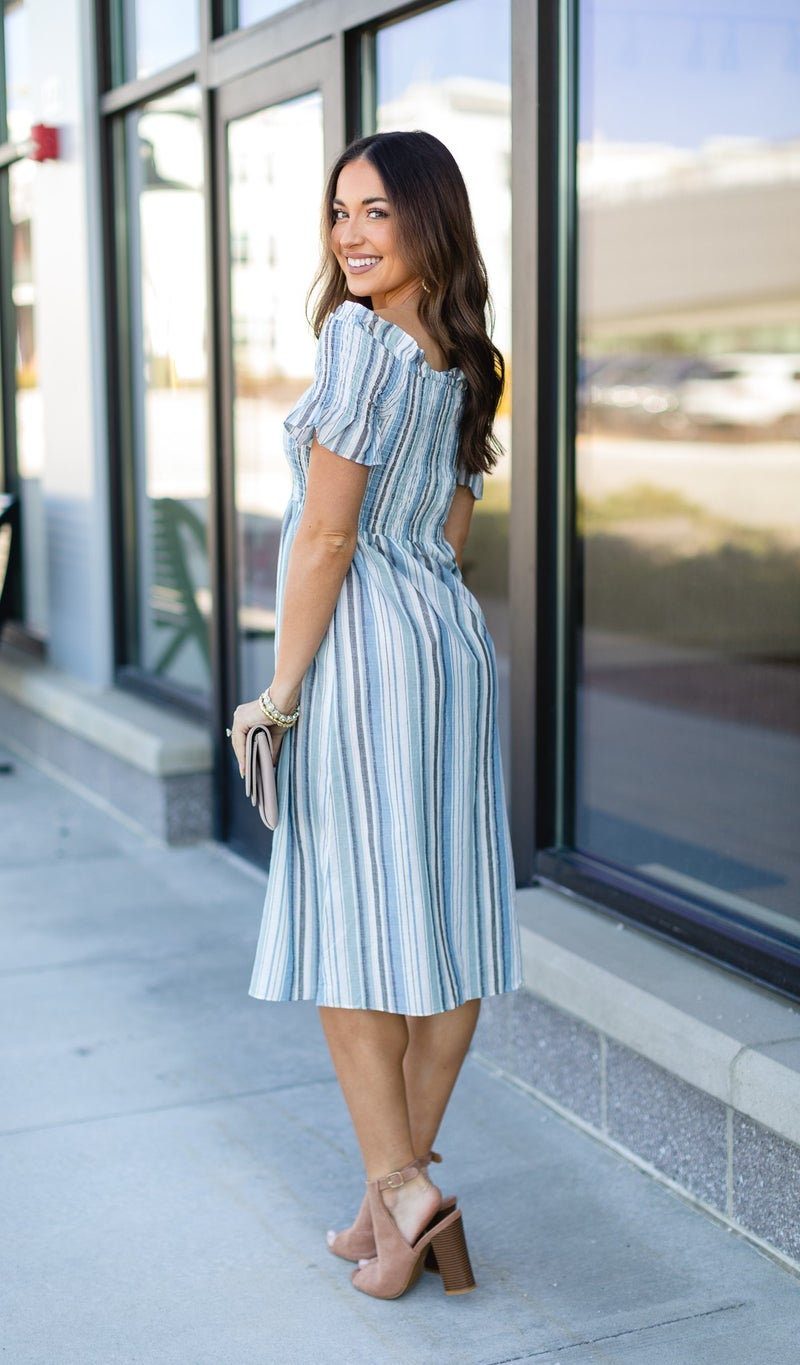 The Freya Dress, Light Blue