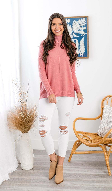 Cozy Days Sweater, Rose