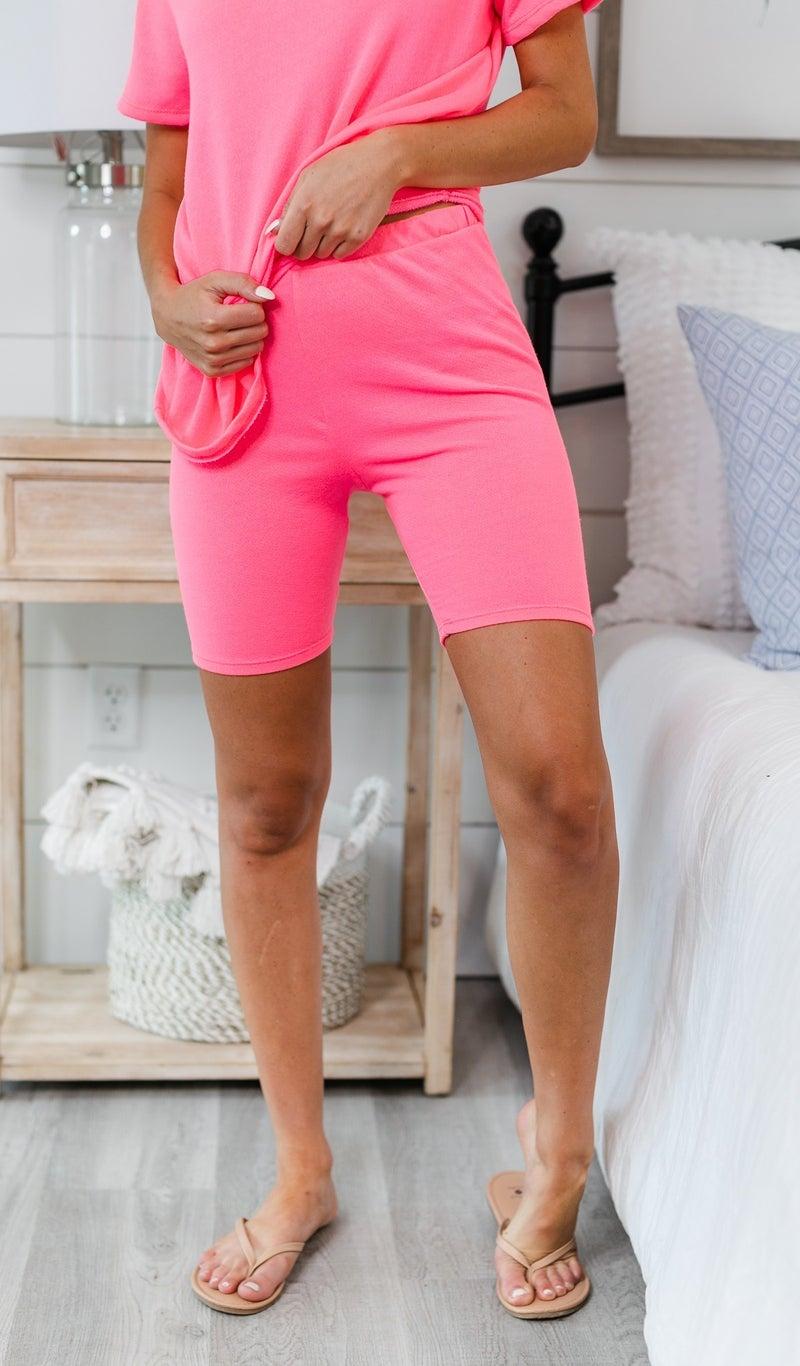 Lounge Away Biker Shorts, Pink