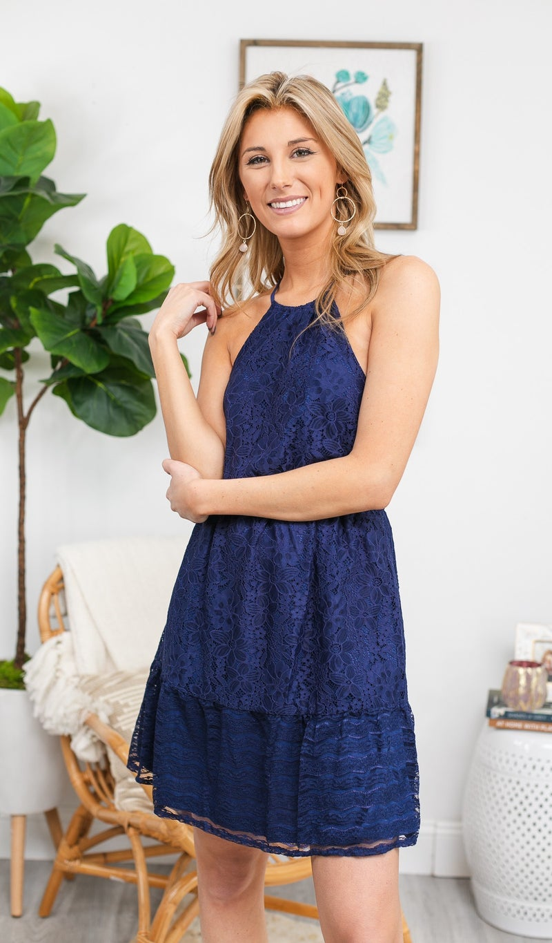 In A Day Dream Dress, Navy