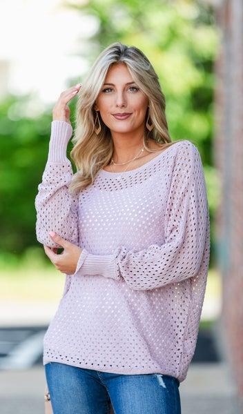 Bar Harbor Knit Sweater, Blush or Mocha