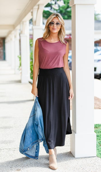 The Ivy Maxi Skirt, Black
