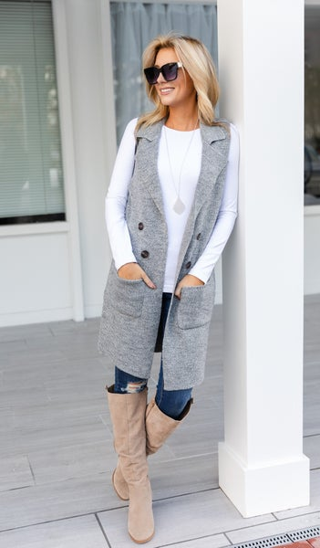 Nothing But Love Vest, Grey