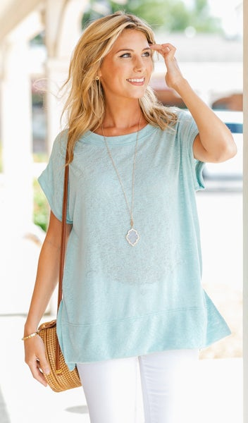 Sea Breeze Top, Mint