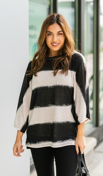Striped Staple Top, Oatmeal