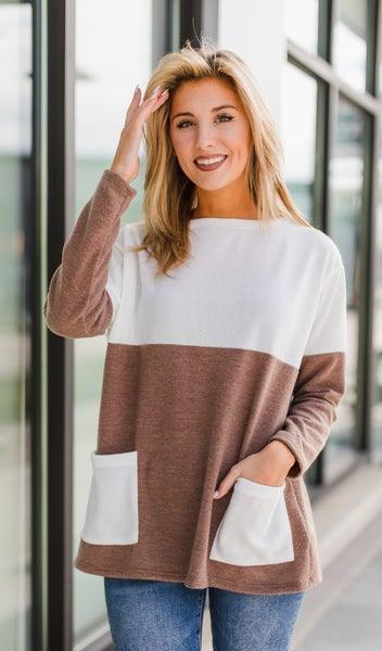 Patchwork Sweater, Neutral