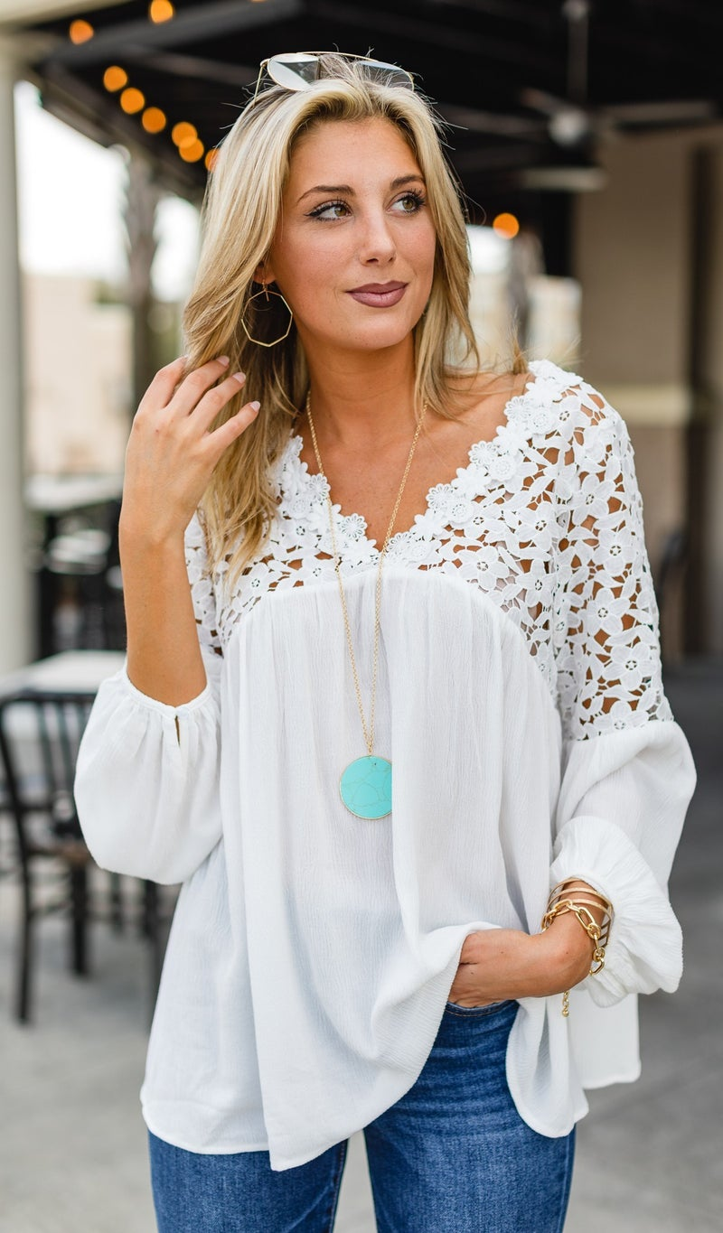 The Florence Blouse, Ivory