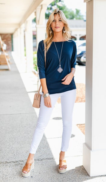 My Go-To Top, Navy, Black or Pink