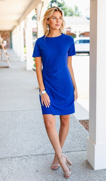 Here To Stay Dress, Royal Blue