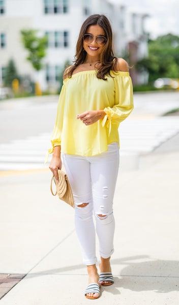 The Krista Blouse, Yellow