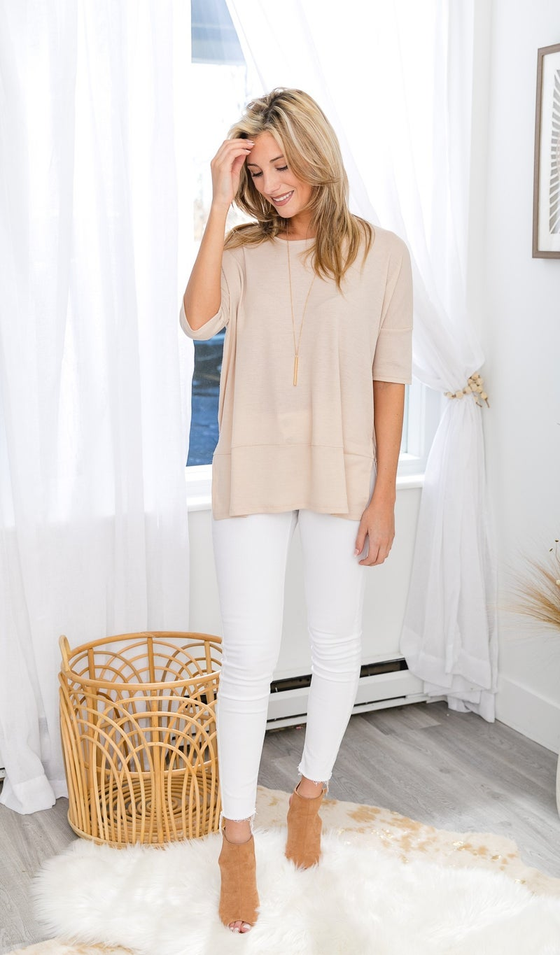 The Alaia Top, Taupe or Blue