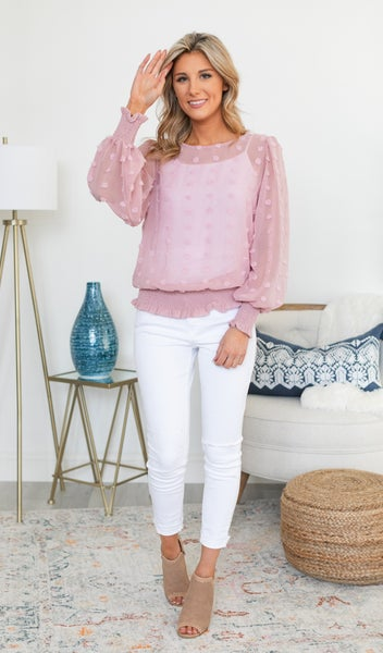 In A Romance Blouse