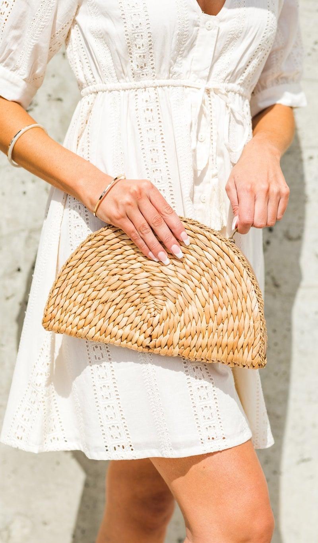 The Harwichport Straw Bag , Khaki