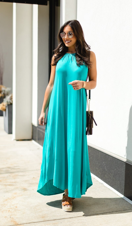 Blissfully You Dress, Turquoise