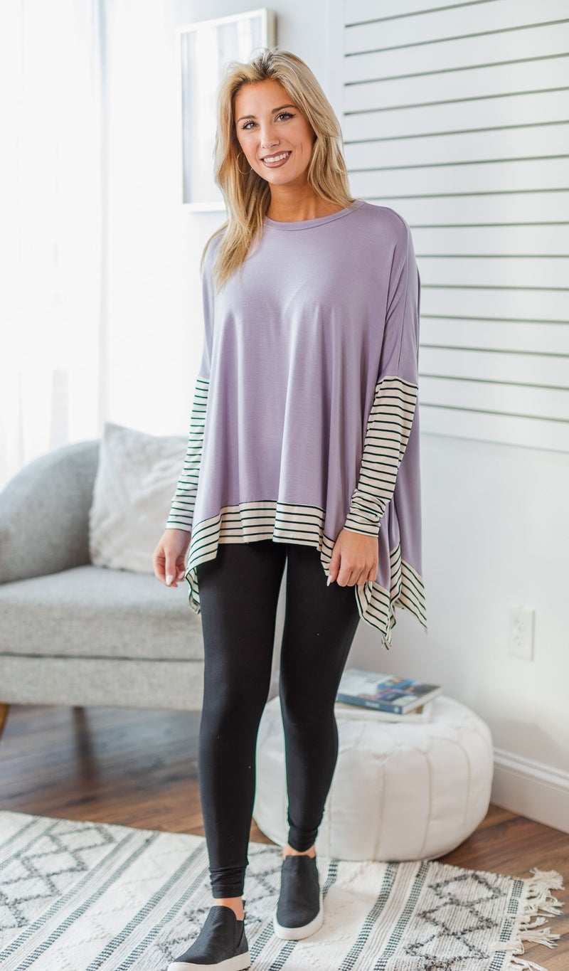 City Ready Top, Lilac or Black *Final Sale*
