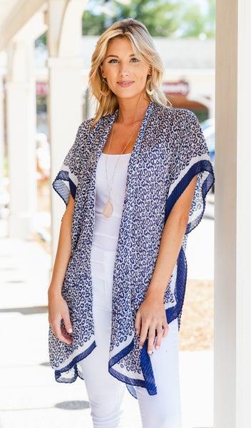 Outback Kimono, Navy NEW