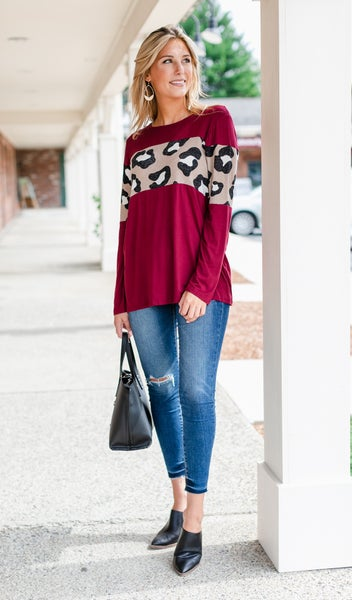 Fast and Fun Top, Burgundy