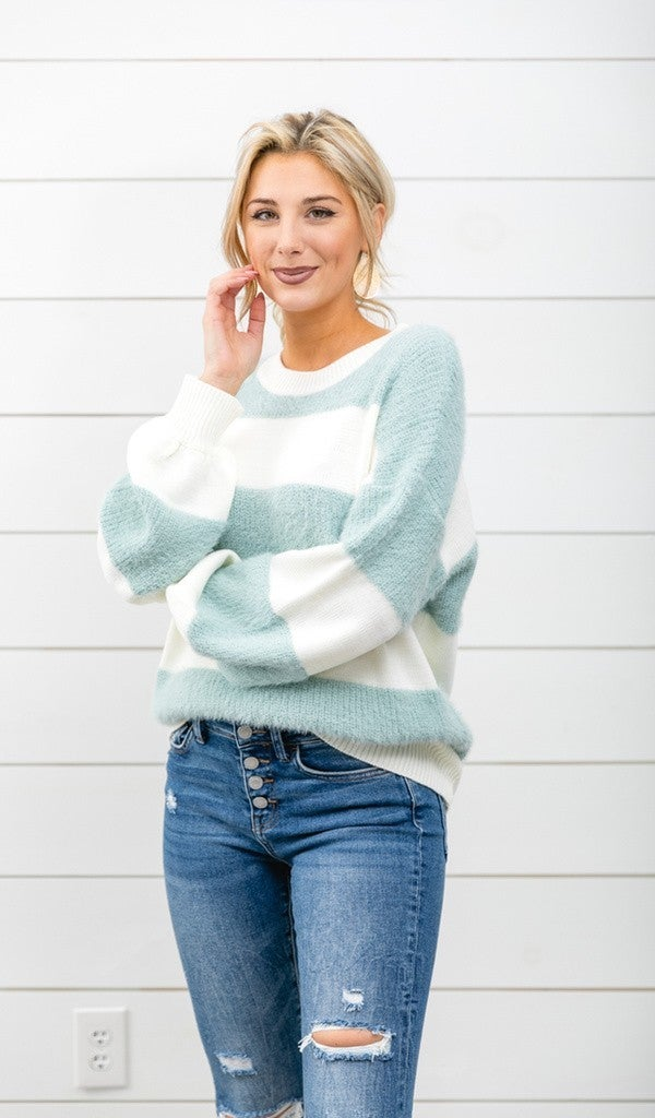 HER Sweater, Blue Striped