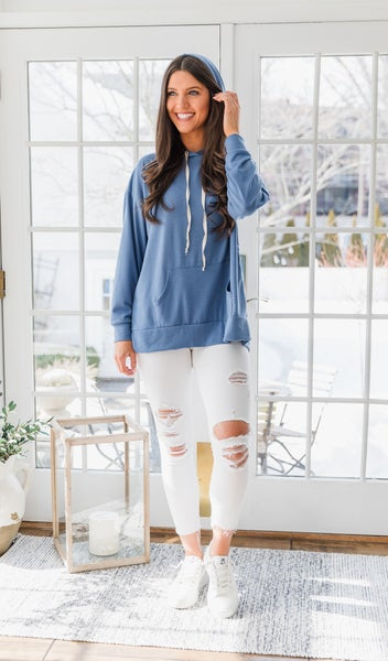The Capri Hoodie, Denim