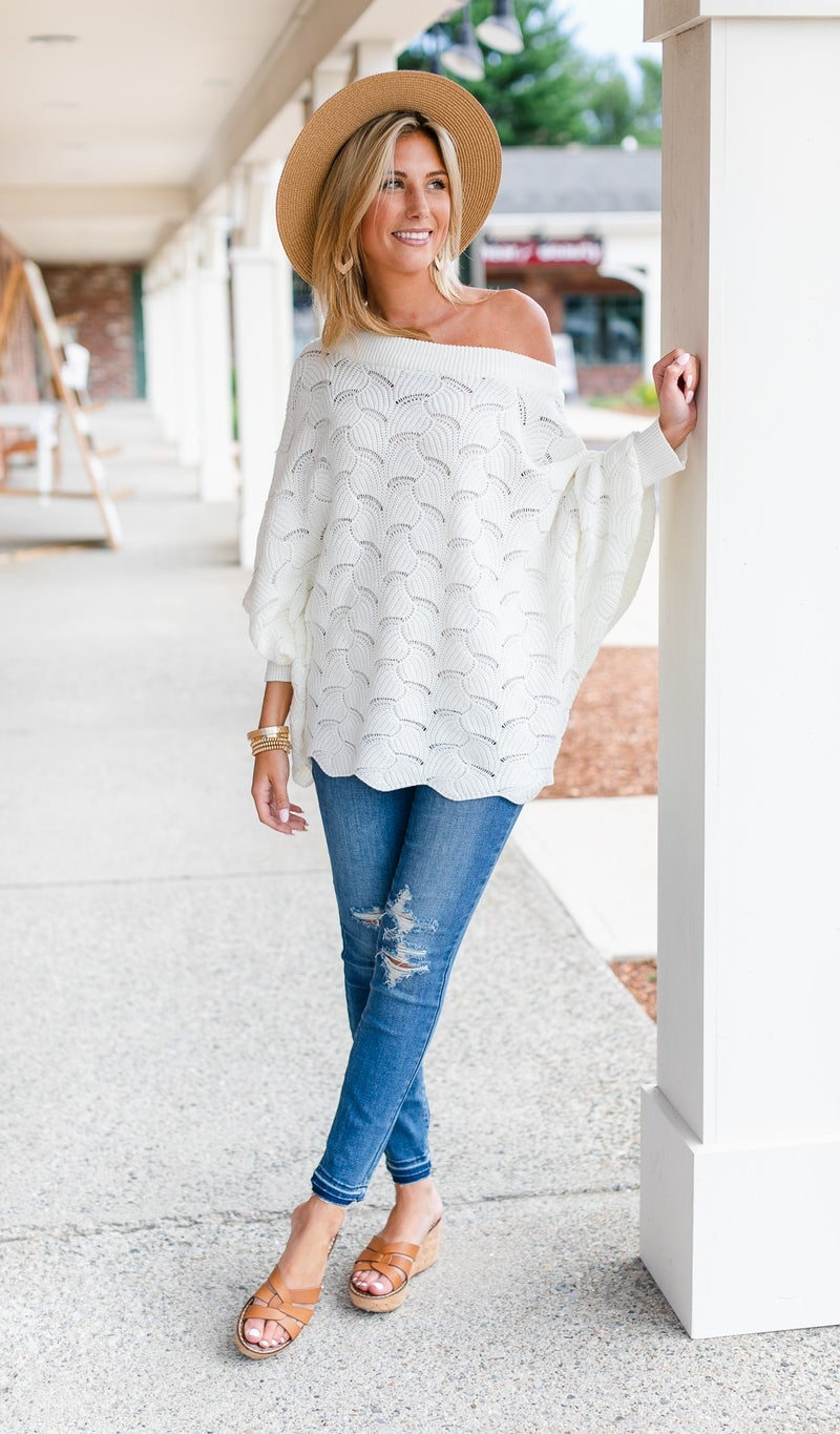 Dreamers Ahead Sweater, Ivory