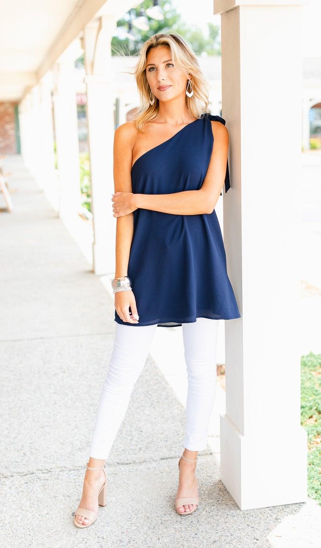 Gatsby Top/Tunic/Dress, Navy