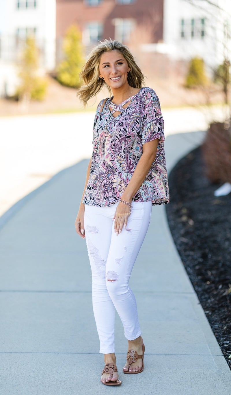 The Angela Top, Pink