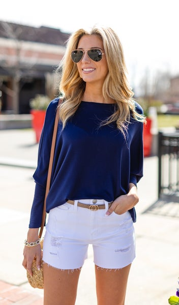 The Maggie French Terry Tunic, Navy