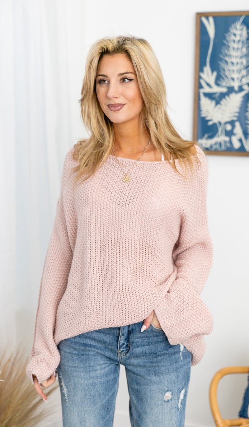 The Lottie Sweater, Pink