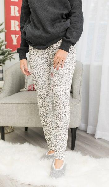 Lovely Loungewear Leggings, Grey or Taupe