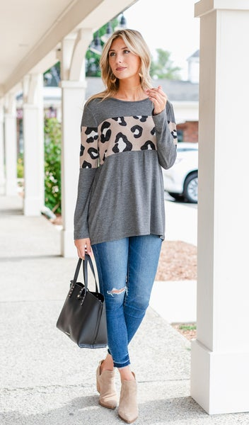 Fast and Fun Top, Charcoal