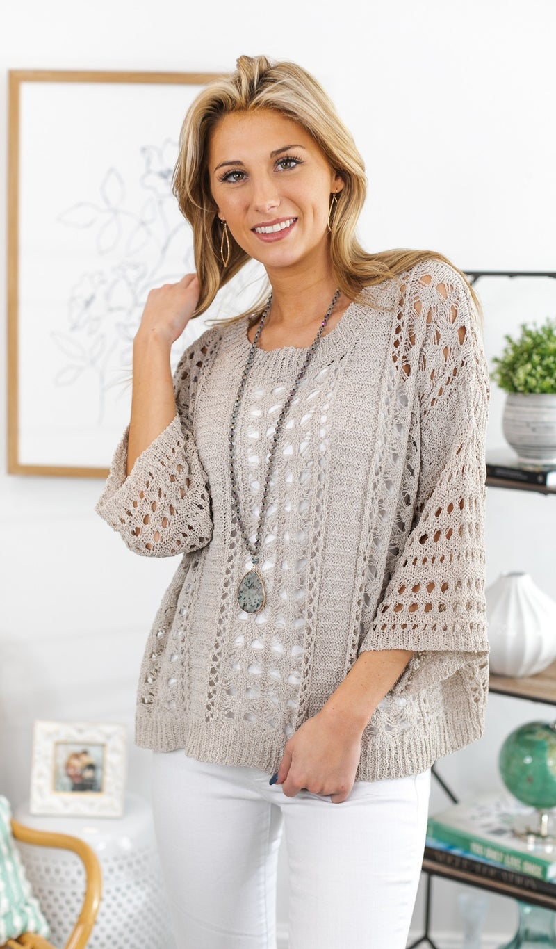 The Summer Sweater, Taupe