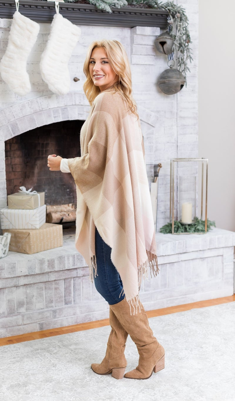 Chill In The Air Wrap, Beige