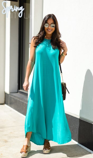Blissfully You Dress, Turquoise