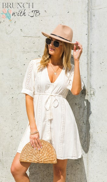 Sidewalk Cafe Dress, Cream