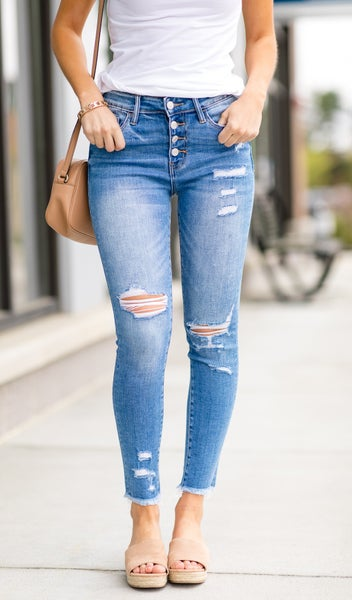 Cool And Collected Crop Skinny Jeans