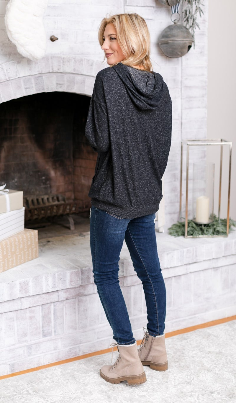 The Juliet Sweater, Charcoal