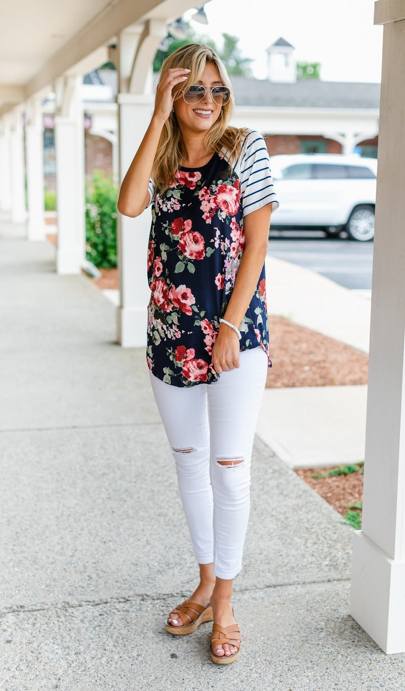The Perfect Combo Top, Navy