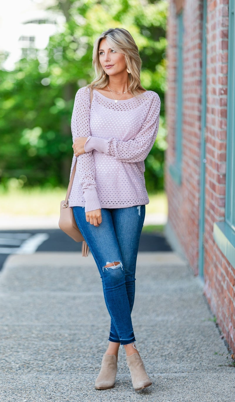 Bar Harbor Knit Sweater, Blush or Mocha