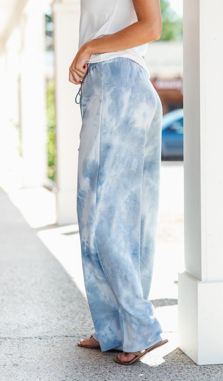 Chic & Comfy Pant, Blue Tie Dye