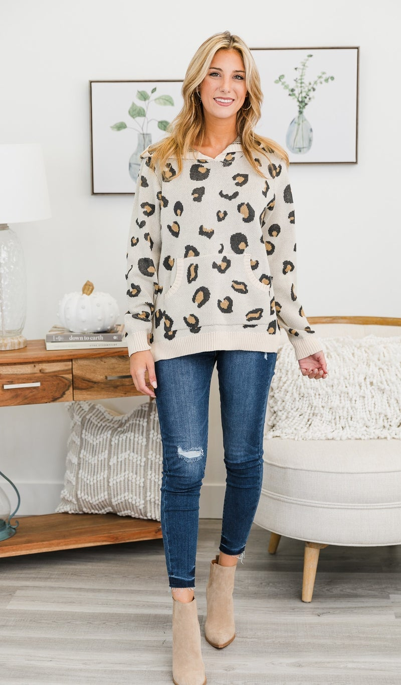 Forever Neutral Print Top, Ivory