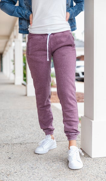 On The Go Burnout Jogger, Charcoal or Plum