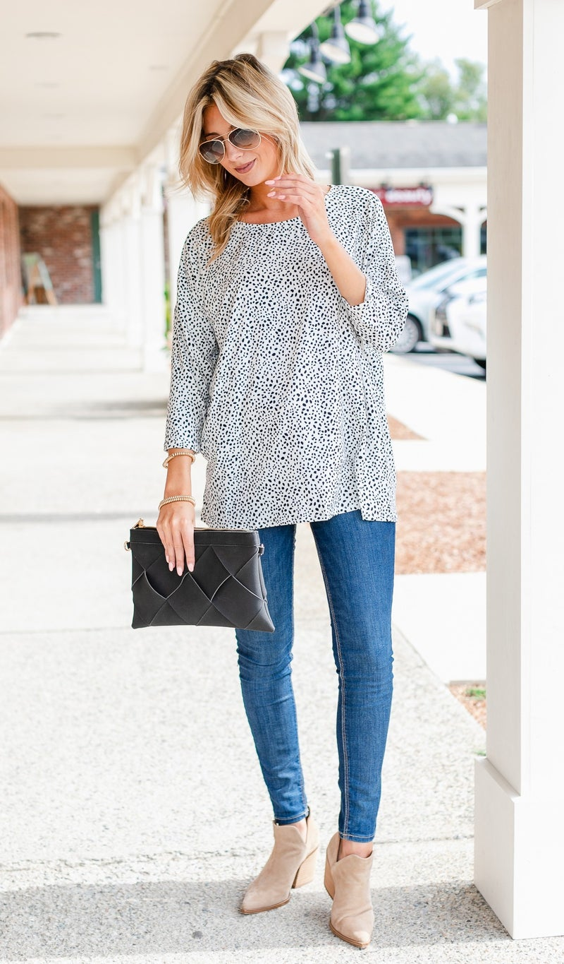 The Perfect Layer Top, Ivory or Taupe