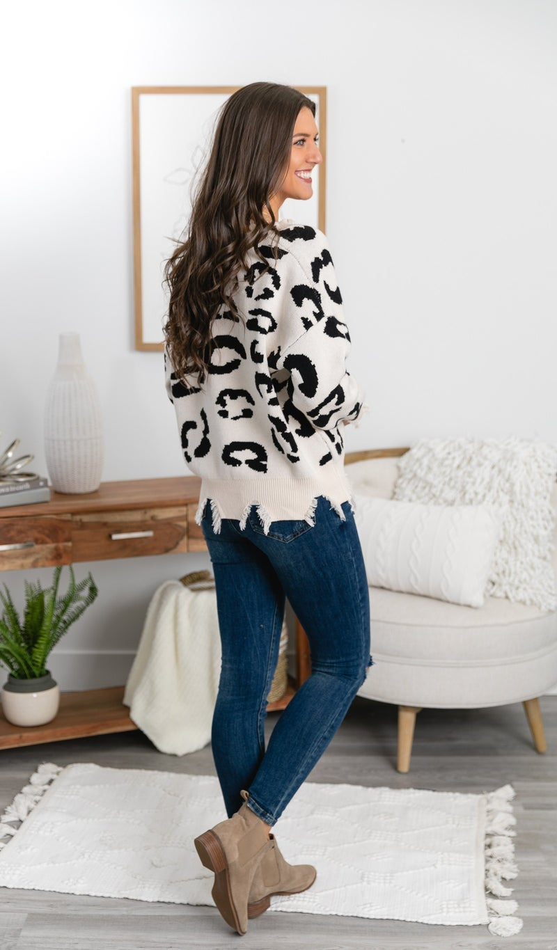 The Lizzy Sweater, Ivory