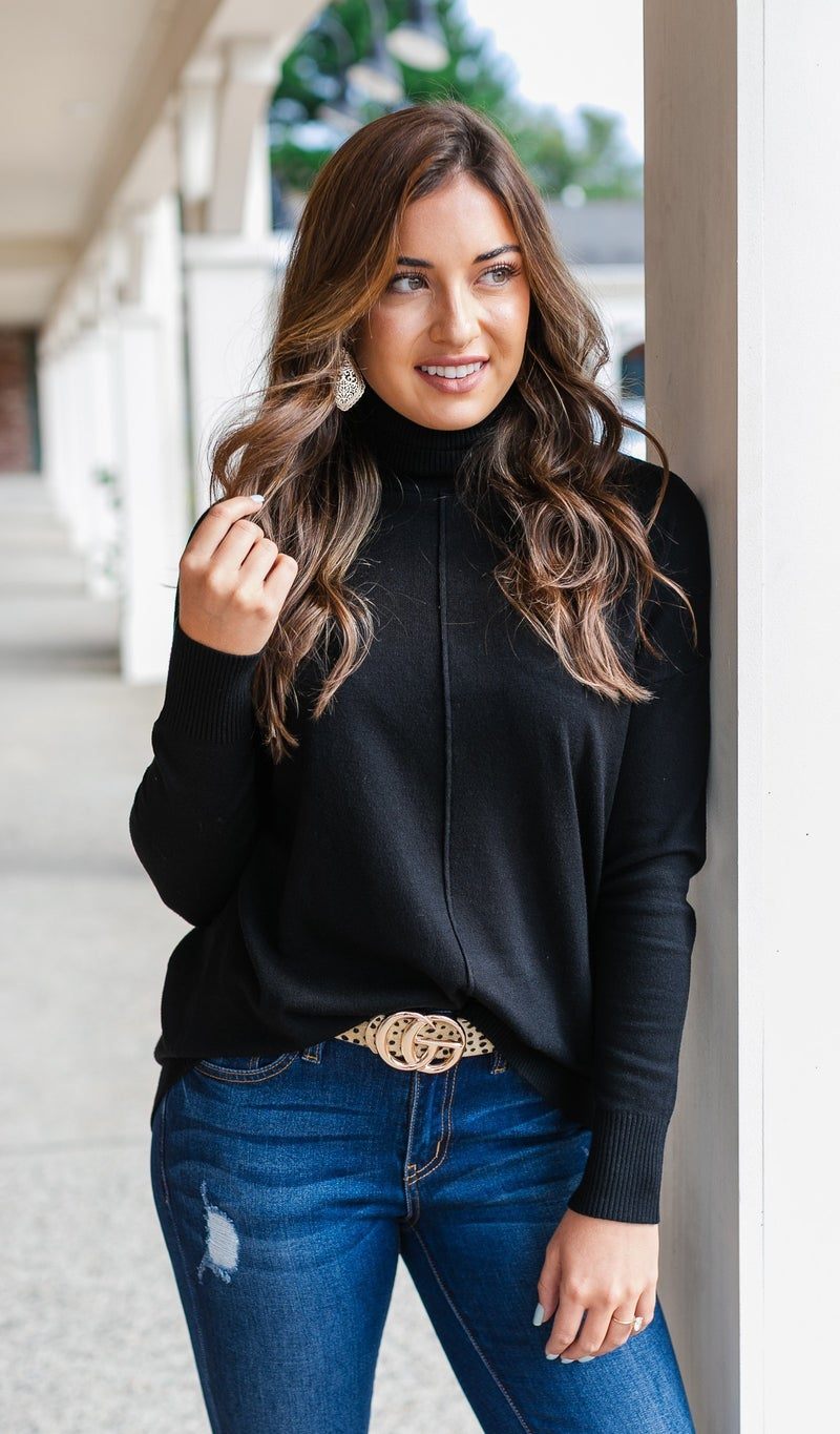 Cozy Days Sweater, Camel or Black