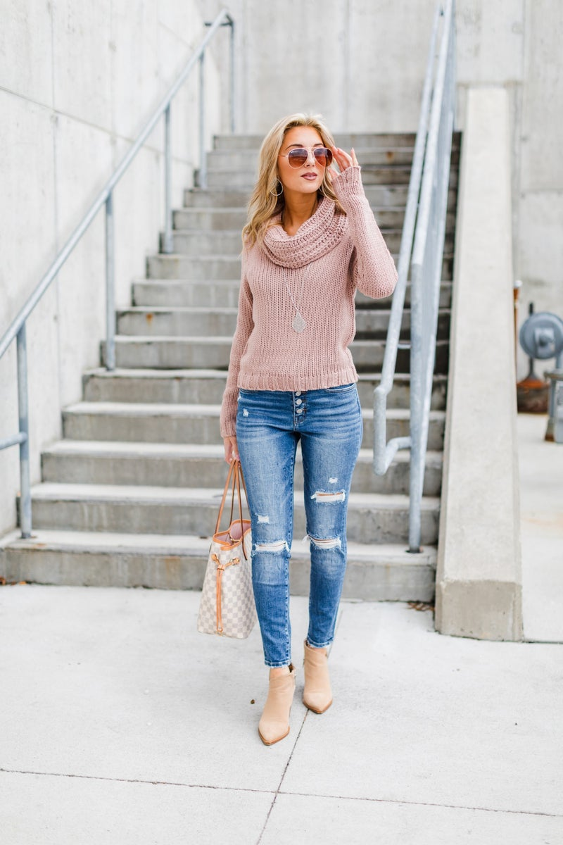 Feel The Warmth Sweater, Mauve