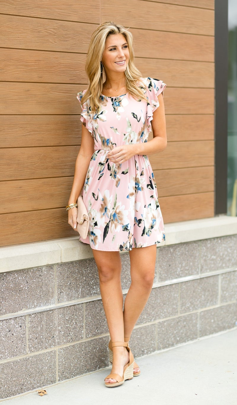 How Sweet It Is Dress, Pink Floral