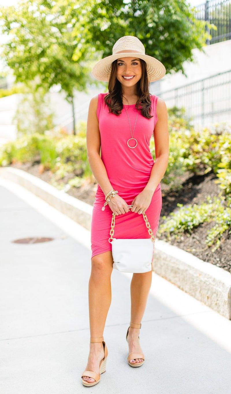 The Jena Dress, Coral