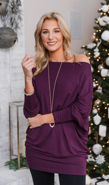 Gift Of Love Top, Eggplant *Final Sale*