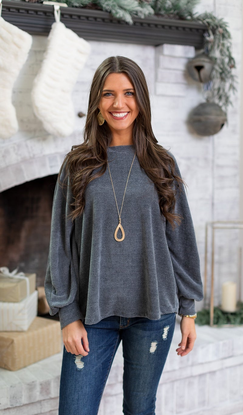 Cozy Cool Top, Charcoal
