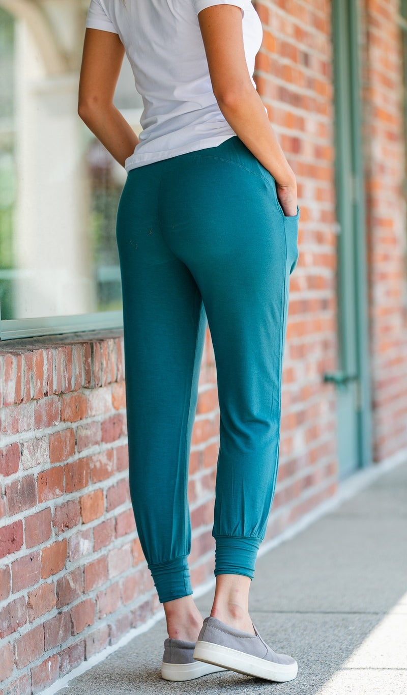 Don't Want To Miss Jogger, Teal, Olive, or Black